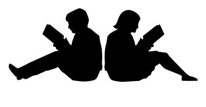 evening book clip art
