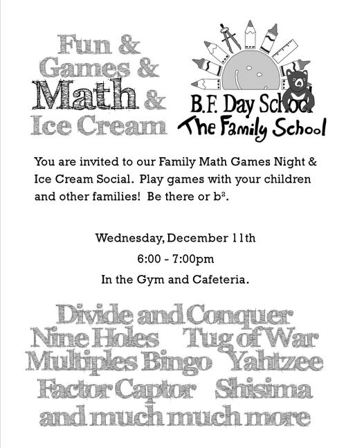 Math Night Flyer Dec 13