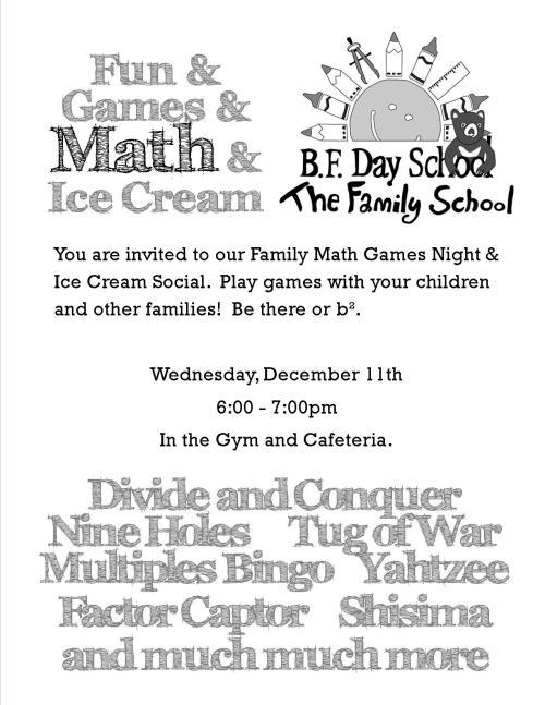 Math Night Flyer Dec 13